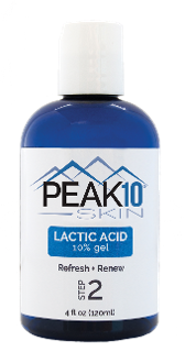 LACTIC ACID 10% gel 4oz. Gently exfoliates epidermal skin cells. Refreshes and renews the surface of the skin. Encourages healthy collagen growth. Penetrates the pores deeply, removing any existing dirt, while gently washing away dead skin cells.