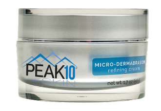 PEAK 10 SKIN MICRO- DERMABRASION refining cream 1.7oz. Superior exfoliation, dead skin cell removal. Gently lifts dirt and excess oils. Exposes fresh, vibrant, healthy new skin. Reduces the appearance of wrinkles and fine lines.