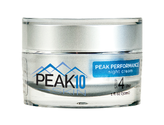 PEAK 10 SKIN PEAK PERFORMANCE night cream w/ Glycolic, Lactic & Pyruvic Acid. High quality exfoliation and removal of dead cells. Smooths dry, damaged, rough skin. Exposes radiant new skin. Helps reduce the appearance of wrinkles and fine lines.