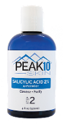 PEAK 10 SKIN SALICYLIC ACID Exfoliator 2% 4oz. Opens clogged pores. Exfoliates epidermal skin cells. Refreshes and renews the surface of the skin. Helps tighten and improve skin texture. Aids in the reduction of fine lines and wrinkles.