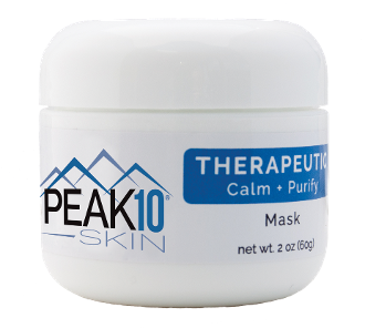 PEAK 10 SKIN THERAPEUTIC Calm + Purify Mask 2oz. Draws out excess oil and impurities from skin. Unclogs pores and helps prevent future blockage. Helps to calm and treat blemishes and problem areas. Is relaxing as well as therapeutic.